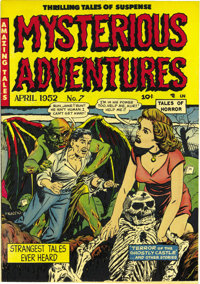 """Mysterious Adventures #7 Mile High pedigree (Story Comics, 1952) Condition: NM+. """"Dagger in eye panel"""" is Over..."""