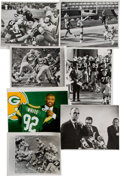 Football Collectibles:Photos, 1960's-90's Highly Significant Green Bay Packers Moments Press Photographs Lot of 7....