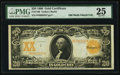 Large Size:Gold Certificates, Fr. 1186 $20 1906 Gold Certificate PMG Very Fine 25.. ...