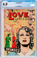 Golden Age (1938-1955):Romance, Love Journal #10 (Our Publishing Co., 1951) CGC FN 6.0 Off-white towhite pages....