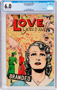 Love Journal #10 (Our Publishing Co., 1951) CGC FN 6.0 Off-white to white pages