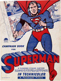 Superman Campaign Book File Copy Used in DC/Fawcett Lawsuit (DC, 1942) Condition: VG