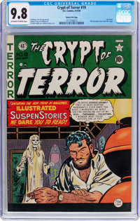 Crypt of Terror #19 Gaines File Pedigree (EC, 1950) CGC NM/MT 9.8 Off-white to white pages