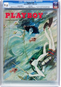 Magazines:Vintage, Playboy V2#8 (HMH Publishing, 1955) CGC NM+ 9.6 White pages....