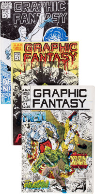 Graphic Fantasy #1-3 Complete Series Group (Ajax Comics Group, 1982-83) Condition: Average VF+.... (Total: 3 Comic Books...