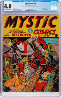 Mystic Comics #8 (Timely, 1942) CGC VG 4.0 Cream to off-white pages