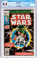 Bronze Age (1970-1979):Science Fiction, Star Wars #1 35 Cent Price Variant (Marvel, 1977) CGC VG+ 4.5 Off-white to white pages....