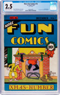Platinum Age (1897-1937):Miscellaneous, More Fun Comics #16 (DC, 1936) CGC GD+ 2.5 Cream to off-whitepages....