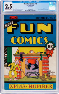 More Fun Comics #16 (DC, 1936) CGC GD+ 2.5 Cream to off-white pages