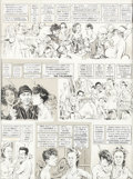 "Original Comic Art:Complete Story, Mort Drucker MAD Magazine #184 Complete 8-Page Story ""OneFlew Over the Cuckoo's Nest"" Parody Original Art Group o... (Total:4 Items)"