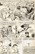 Original Comic Art:Panel Pages, Jack Kirby and Joe Sinnott Fantastic Four #58 Story Page 20 Doctor Doom Original Art (Marvel, 1967)....