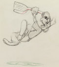 Animation Art:Production Drawing, Tugboat Mickey Goofy Animation Drawing (Walt Disney, 1940)....