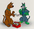 Animation Art:Color Model, Scooby-Doo and Dynomutt Color Model Cel (Hanna-Barbera, 1976)....