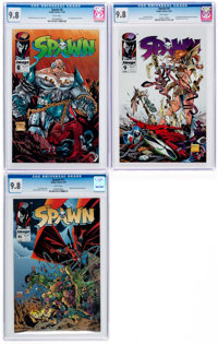 Spawn #6, 9, and 11 CGC-Graded Group (Image, 1992-93) CGC NM/MT 9.8.... (Total: 3 Comic Books)