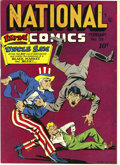 Golden Age (1938-1955):Superhero, National Comics #39 Mile High pedigree (Quality, 1944) Condition: NM+. This issue's memorable Hitler cover is credited to Al...