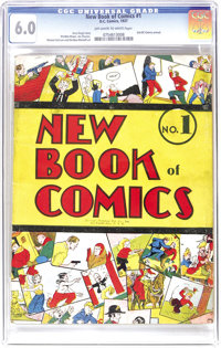 New Book of Comics #1 (DC, 1937) CGC FN 6.0 Off-white to white pages. This book is considered to be the first regular-si...