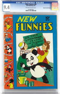 New Funnies #66 Mile High pedigree (Dell, 1942) CGC NM 9.4 Off-white to white pages. Just the second issue of the title...