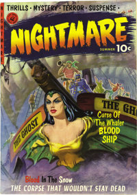 Nightmare #1 Mile High pedigree (Ziff-Davis, 1952) Condition: VF/NM. This is one of the classiest pre-Code horror comics...