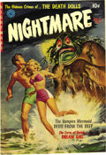 "Golden Age (1938-1955):Horror, Nightmare #2 (Ziff-Davis, 1952) Condition: VF/NM. This issue's gotan adaptation of Edgar Allan Poe's horror classic ""The Pi..."