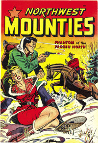Northwest Mounties #3 Mile High pedigree (St. John, 1949) Condition: NM-. This issue has a bondage cover and Matt Baker...