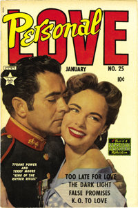 Personal Love #25 (Famous Funnies, 1954) Condition: VF+. Frank Frazetta art on a tribute to Bettie Page? Yeah, we'd say...