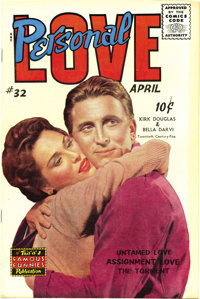 """Personal Love #32 (Famous Funnies, 1955) Condition: VF/NM. Frank Frazetta drew this issue's lead story """"Untamed Lov..."""