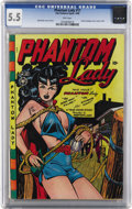 Golden Age (1938-1955):Superhero, Phantom Lady #17 (Fox Features Syndicate, 1948) CGC FN- 5.5 Pinkpages. Overstreet notes the classic Matt Baker bondage cove...
