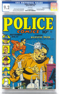 Golden Age (1938-1955):Superhero, Police Comics #11 Mile High pedigree (Quality, 1942) CGC NM- 9.2 White pages. The incredible page quality and CGC census-top...