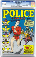 Golden Age (1938-1955):Superhero, Police Comics #13 Mile High pedigree (Quality, 1942) CGC VF/NM 9.0 White pages. In the 1940s, the war effort organized drive...