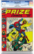 Golden Age (1938-1955):Superhero, Prize Comics #7 Mile High pedigree (Prize, 1940) CGC NM- 9.2 Off-white pages. This is the only unrestored copy graded above ...