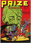 Golden Age (1938-1955):Superhero, Prize Comics #37 Mile High pedigree (Prize, 1943) Condition: NM-. This issue made Hitler sweat (as you can see), and we almo...