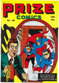 Golden Age (1938-1955):Superhero, Prize Comics #38 Mile High pedigree (Prize, 1944) Condition: NM. This is the first time we've seen this issue, and darn it, ...