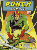 """Golden Age (1938-1955):Superhero, Punch Comics #1 Mile High pedigree (Chesler, 1941) Condition: FN+. The old """"otherwise NM"""" routine is something we try to ste..."""