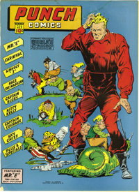 Punch Comics #2 Mile High pedigree (Chesler, 1942) Condition: VG/FN. We had to downgrade this one because of a water sta...