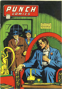 Punch Comics #14 Mile High pedigree (Chesler, 1945) Condition: VF-. This issue features characters such as the Master Ke...