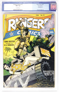 Golden Age (1938-1955):War, Rangers Comics #15 Pennsylvania pedigree (Fiction House, 1944) CGC NM- 9.2 Off-white pages. A fine pedigree, Graham Ingels a...