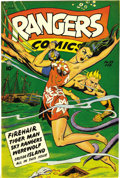 Golden Age (1938-1955):Miscellaneous, Rangers Comics #39 Mile High pedigree (Fiction House, 1948) Condition: NM-. Glory Forbes, hallelujah! We say that because it...
