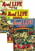 Golden Age (1938-1955):Non-Fiction, Real Life Comics #28, 40, and 51 Mile High pedigree Group (NedorPublications, 1945-49). A double-cover copy is the highligh...(Total: 3 Comic Books)