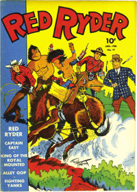 Red Ryder Comics #17 File Copy (Dell, 1944) Condition: VF/NM. Here's one of the more unusual covers of the run (if you n...
