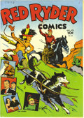 Golden Age (1938-1955):Western, Red Ryder Comics #18 Mile High pedigree (Dell, 1944) Condition: NM-. This issue has cover and interior art by Fred Harman. N...