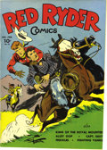 Golden Age (1938-1955):Western, Red Ryder Comics #23 (Dell, 1945) Condition: NM. Fred Harman handled this issue's cover and interior art. Overstreet 2006 NM...