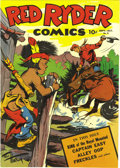 Golden Age (1938-1955):Western, Red Ryder Comics #27 (Dell, 1945) Condition: NM+. This is the nicest copy of this issue we've laid eyes on to date! Overstre...