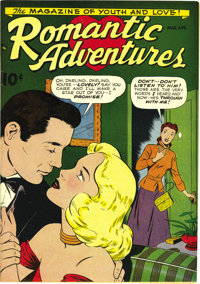 Romantic Adventures #1 Mile High pedigree (ACG, 1949) Condition: NM-. This new series debuted with a bit of a twist on t...