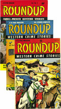 Golden Age (1938-1955):Western, Roundup #1-4 Group - Mile High pedigree (D.S. Publishing, 1948-49).Here are the first four issues of a series that only las... (Total:4 Comic Books)