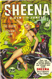 Sheena, Queen of the Jungle #18 Mile High pedigree (Fiction House, 1952) Condition: NM. Maurice Whitman cover. Overstree...