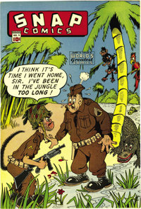 Snap Comics #9 Mile High pedigree (Chesler, circa 1944) Condition: NM. Here's an immaculate Edgar Church copy of a book...