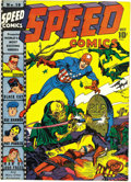 Golden Age (1938-1955):Superhero, Speed Comics #18 Mile High pedigree (Harvey, 1942) Condition: VF/NM. This bondage cover by Simon and Kirby is quite signific...