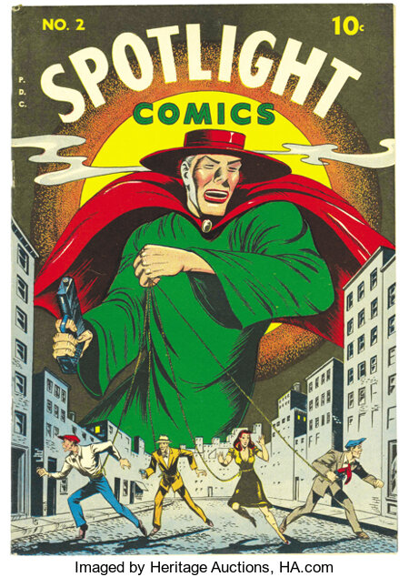 Spotlight Comics #2 Mile High pedigree (Chesler, 1945) Condition: VF/NM. Here's an impeccable Edgar Church copy of a black-c...