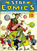 Platinum Age (1897-1937):Miscellaneous, Star Comics V1#1 (Harry 'A' Chesler, 1937) Condition: VF-. Thisissue's tied with Star Ranger #1 as the first Chesler-pu...