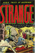 Golden Age (1938-1955):Horror, Strange Fantasy #2 (#1) (Farrell, 1952) Condition: NM-. Thispre-Code issue is the first of two #2s for this title. The horr...